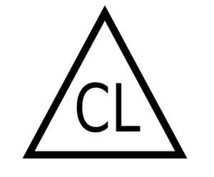 Pflegesymbol Bleichen mit Chlor