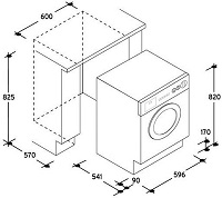 Größe der Einbau Waschmaschine