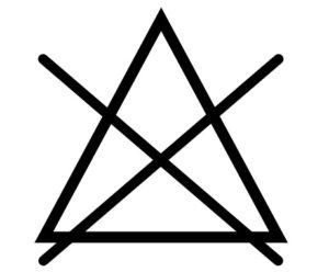Pflegesymbol Bleichen nicht erlaubt