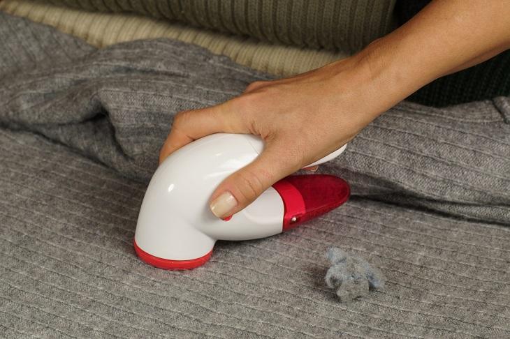 Pullover fusselt