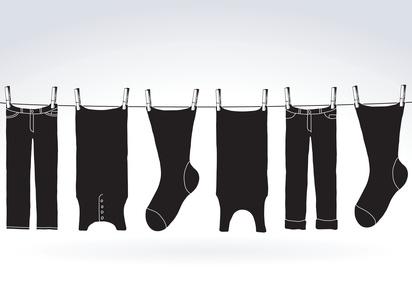 Schwarze Wäsche waschen