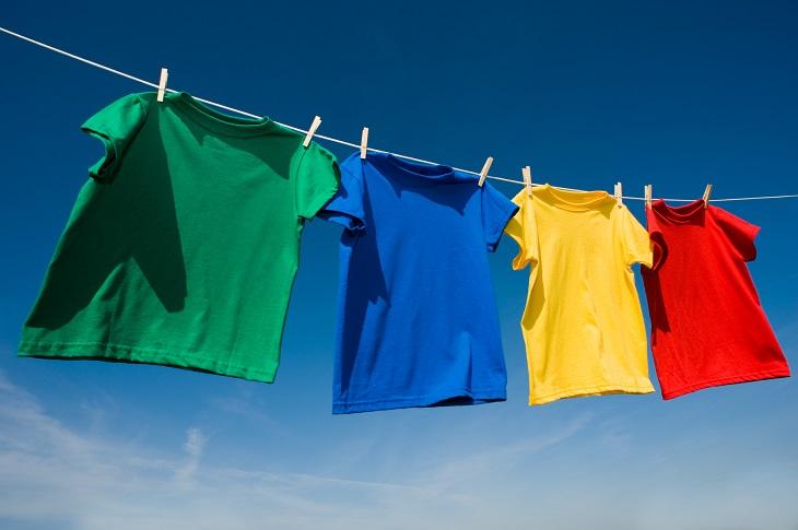 T-Shirts waschen
