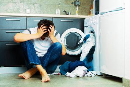 Wäsche in der Waschmaschine vergessen