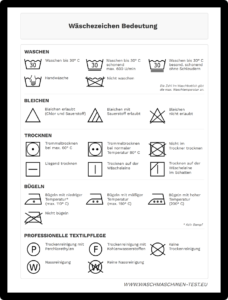 Wäschezeichen-PDF Download
