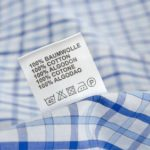Wäschezeichen auf Etikett