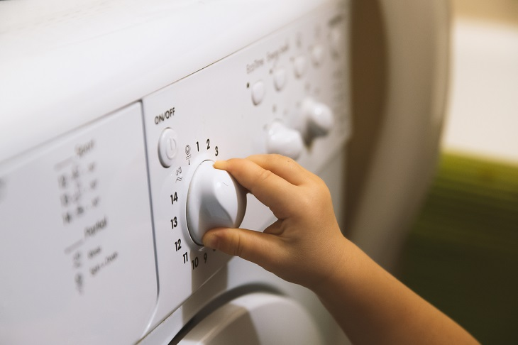 Waschmaschine mit Kindersicherung