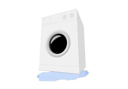 Waschmaschine läuft aus - Wasserschaden